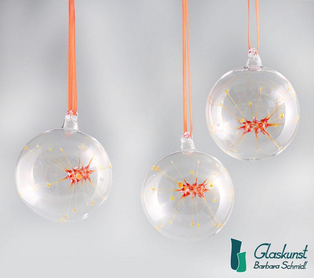 Sternenlicht orange - Glaskunst Barbara Schmidl