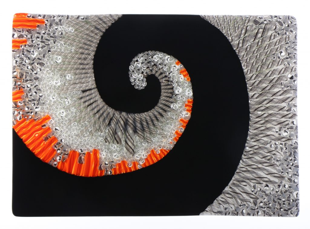 Wandbild Vergangenheit 1 - Glaskunst Barbara Schmidl