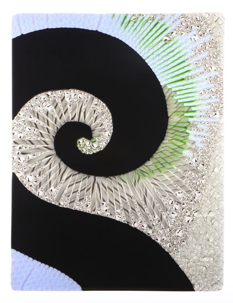 Wandbild Vergangenheit 2 - Glaskunst Barbara Schmidl