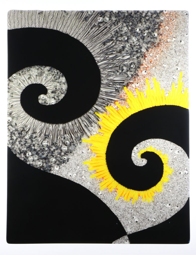 Wandbild Vergangenheit 3 - Glaskunst Barbara Schmidl