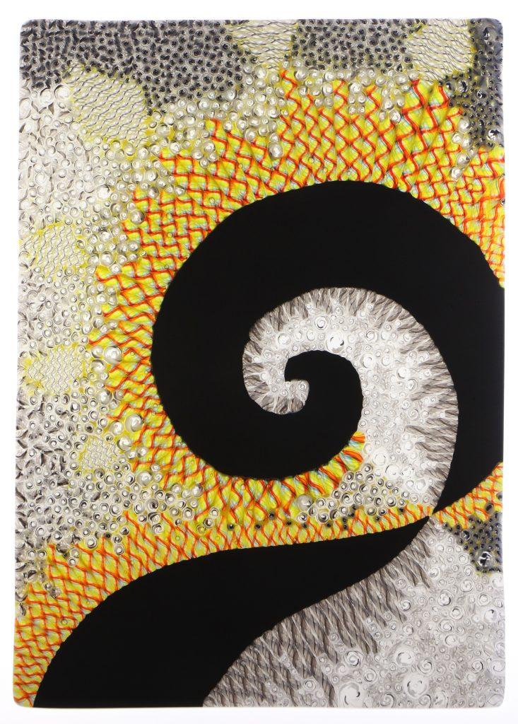 Wandbild Vergangenheit 7 - Glaskunst Barbara Schmidl