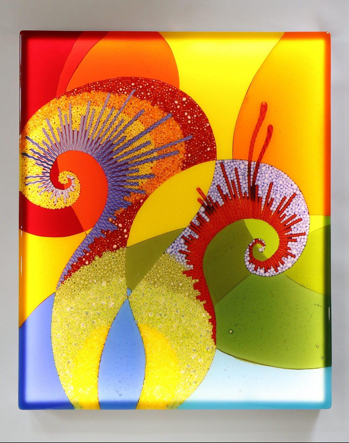 Wandbild Gedankenblasen - Glaskunst Barbara Schmidl